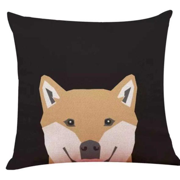 "18""x18"" Shiba Inu Canvass Throw Pillow Case"
