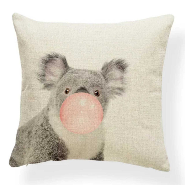 "18""x18"" Koala with Bubble White Background Canvass Throw Pillow Case"