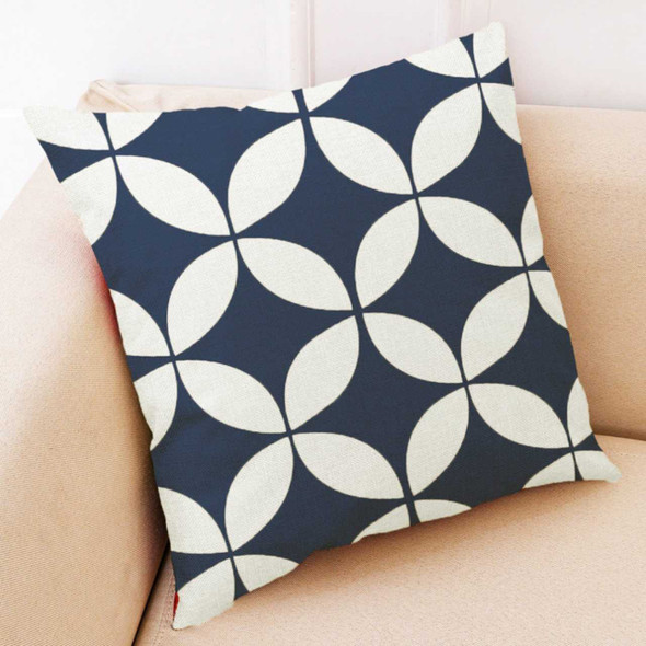 "18""x18"" Geometric Canvass Throw Pillow Case"