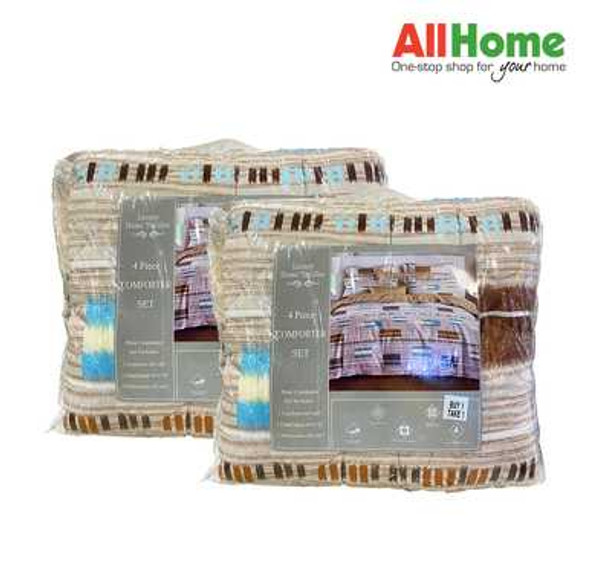 "Luxury Home Textiles 4 Piece Comforter Set Assorted Design 68""x86"" Twin"