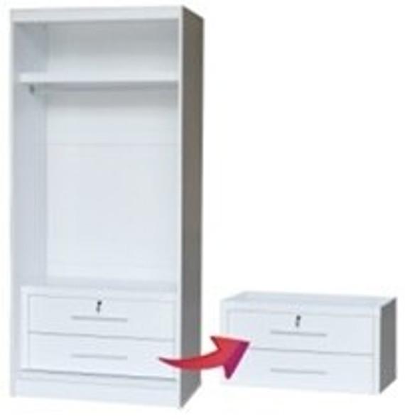 Milano I 2 doors Wardrobe Cabinet