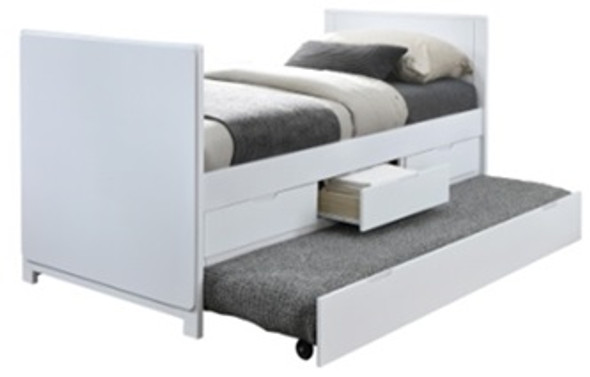 Mobias Ed Tobias Single Bed with Pull-out and Drawers