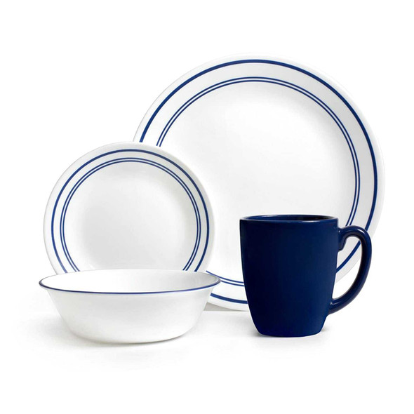 Corelle 1055607 16pc Cafe Blue Dinnerware Set