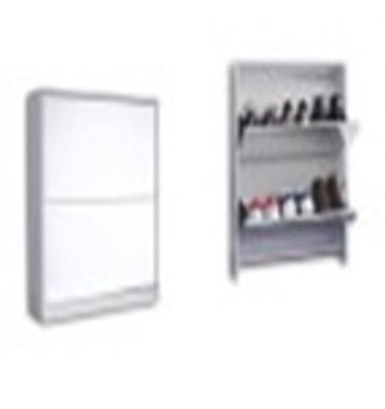 Wegner XVI Mirror Shoe Cabinet with 2 drawers