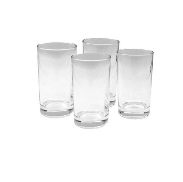 GL-Holmes  4PC set 8oz Glass Tumbler