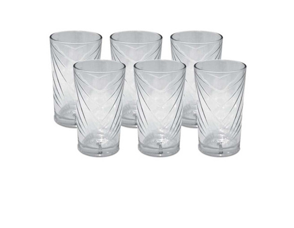 GL-Remus-08-GB 6pc 8oz Clear Glass Tumbler with Gift box