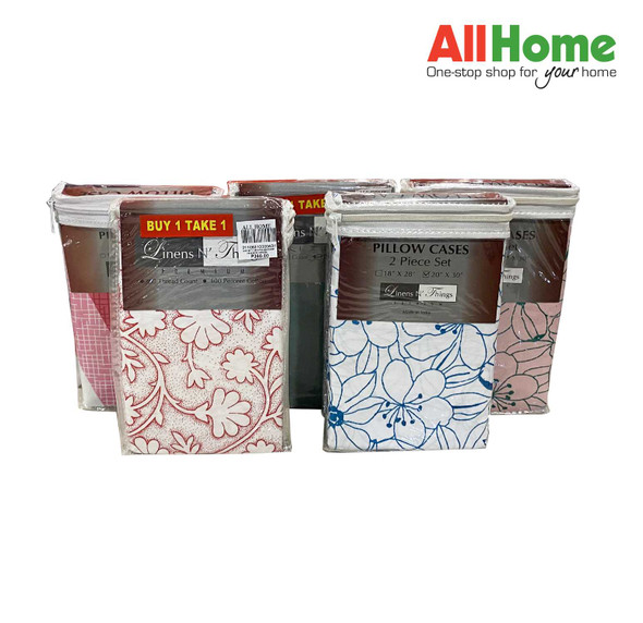 """Buy 1 Take 1 Linens N' Things 20""""x30"""" 2pcs Pillow Case Assorted Design (Queen)"""