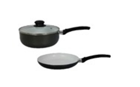 CZ-SANCHO 3PC ALUMINUM CRMC COOKWARE SET