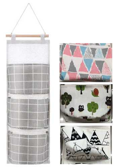 Fabric Hanging Organizer- 3 Pocket