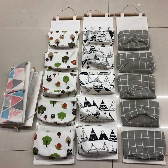 Fabric Hanging Organizer- 5 Pocket