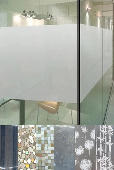 Decorative Frosted Window Glass Film Sticker