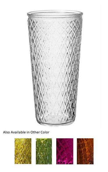 Elsa.L Rhombus Glass Vase Big