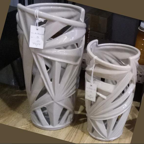Elegant Ceramic Tall Vase Gray