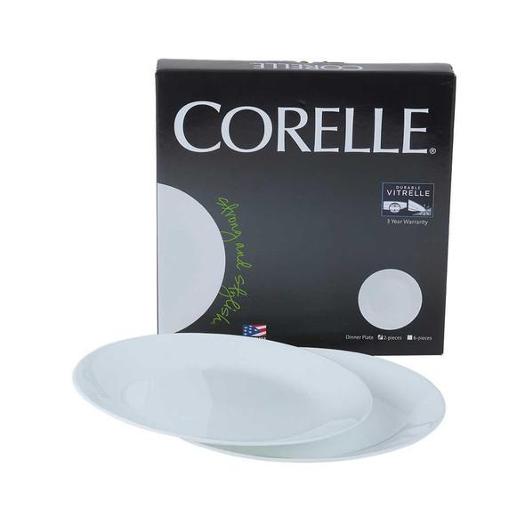 Corelle COR-N-2 2pc. Dinner Plate -Winter frost white