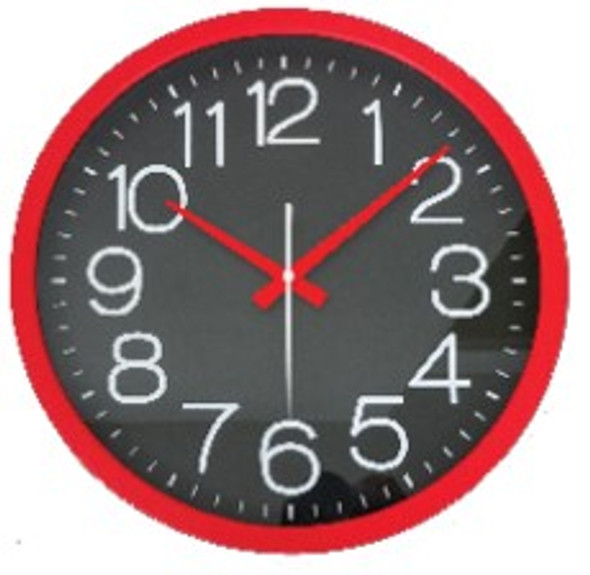 IG2414-RED 36cm Wall Clock