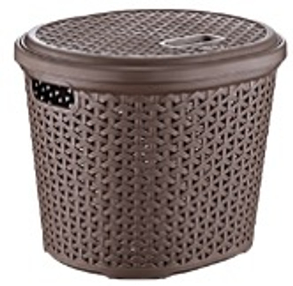 15L OVAL RATTAN MULTI-USE BASKET (BROWN)