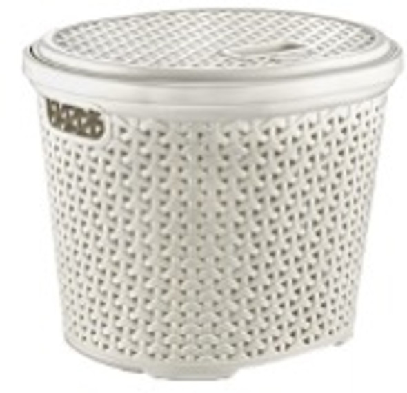 15L OVAL RATTAN MULTI-USE BASKET (WHITE)