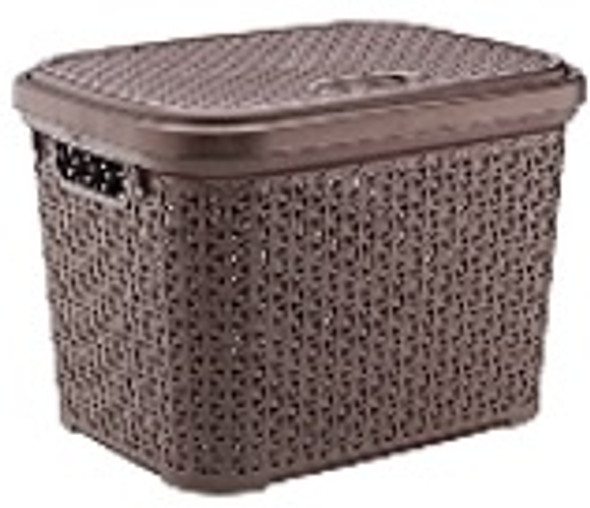 20L  RATTAN STORAGE BASKET (BROWN)