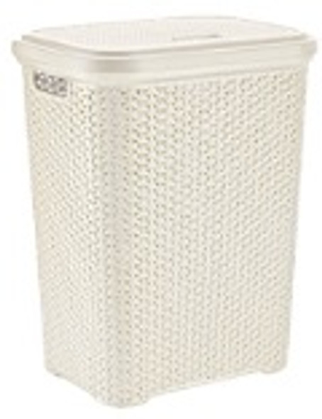 35 LITERS RATTAN LAUNDRY HAMPER (WHITE)
