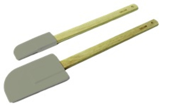 MB 5562 2PC SILICONE SPATULA WOODEN HANDLE
