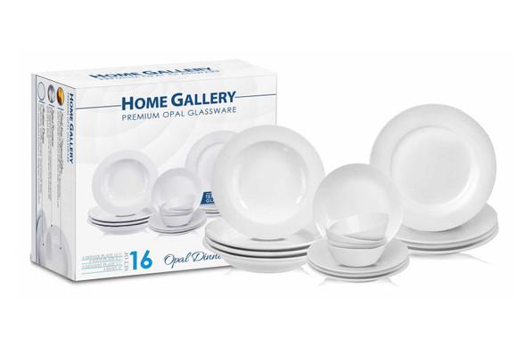 HG-16PDS/P 16pc Dinnerware Premium Opal Glassware set