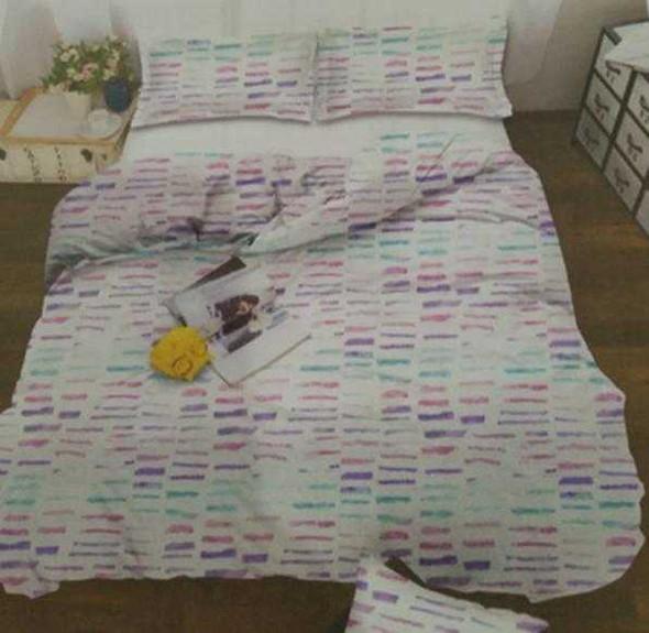 MODERN LINENS Bedsheet Microfiber 3 Piece Set Full Nari