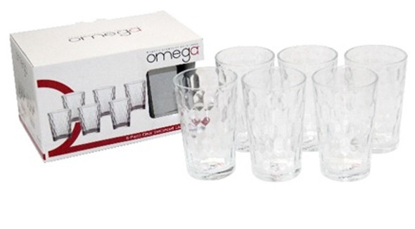 GL-RIDDLE-08 6PC set 8oz Glass Tumbler with Giftbox