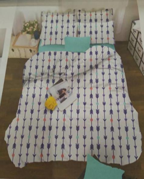 MODERN LINENS Bedsheet Microfiber 4 Piece Set Queen Feliz