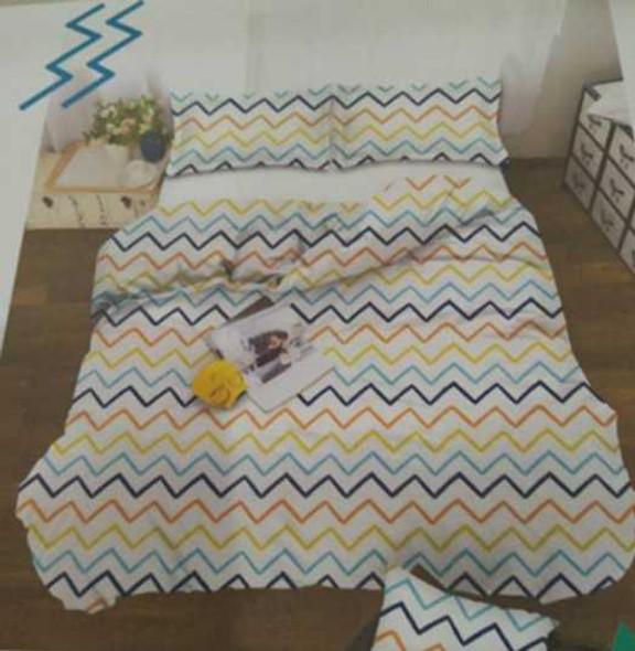 Exclusively in All Home  Queen Cara  4-Piece Bedsheet Set