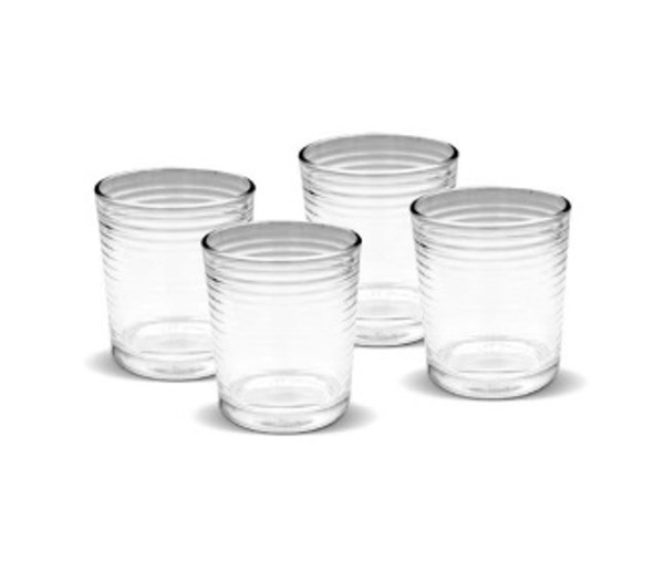 GL-KHALEL-09 4PC set 9oz Glass Tumbler with Giftbox