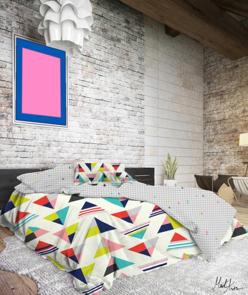 LIFESTYLE PICK N GO Bedsheet 4 Piece Set Cotton-Blend Full Cleo