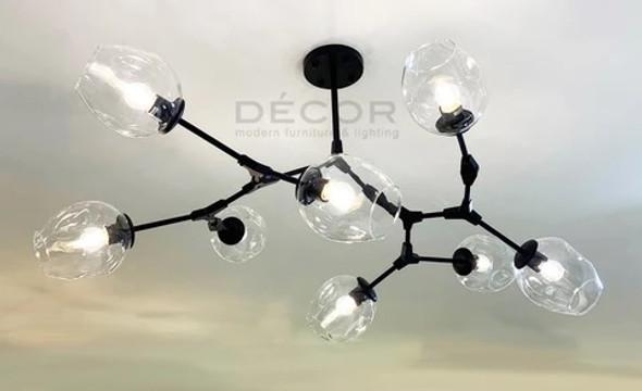 DECOR GARNER DROPLIGHT BLACK 9 BULBS