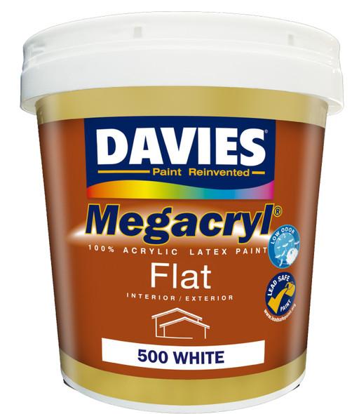 DAVIES DV-500-16 MEGACRYL FLAT LATEX WHITE 16L