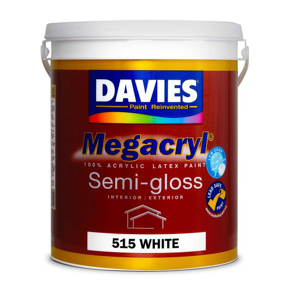 DAVIES DV-515-4 MEGACRYL LATEX SEMI GLOSS WHITE 4L