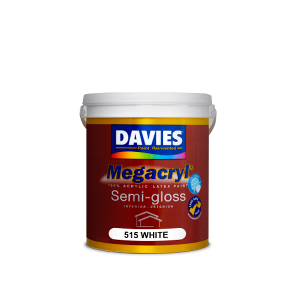 DAVIES DV-515-1 MEGACRYL LATEX SEMI GLOSS WHITE 1L