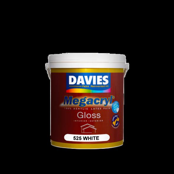 DAVIES DV-525-4 MEGACRYL LATEX GLOSS WHITE 4L