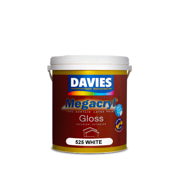 DAVIES DV-525-1 MEGACRYL LATEX GLOSS WHITE 1L