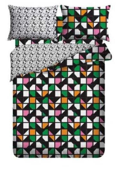 LIFESTYLE PICK N GO Bedsheet 3 Piece Set Cotton-Blend Full Tetris