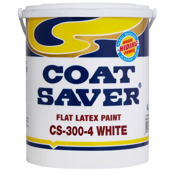 COATSAVER CS-300-4 COAT SAVER FLAT WALL ENAMEL WHITE 4L