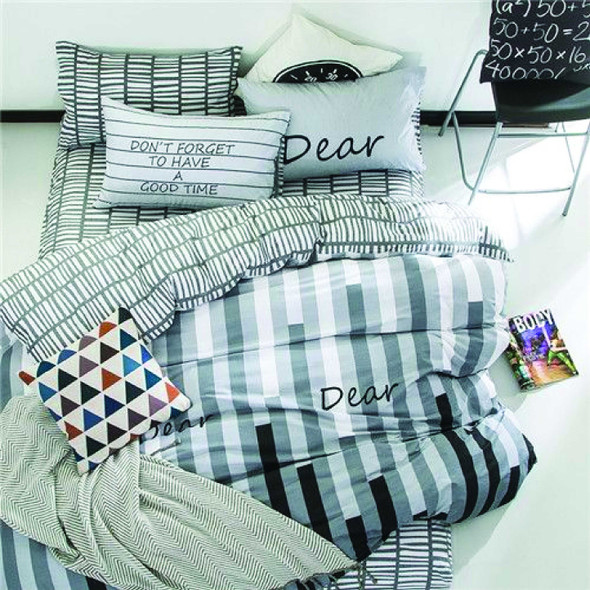 LIFESTYLE PICK N GO Bedsheet 4 Piece Set Cotton-Blend Queen Beethoven