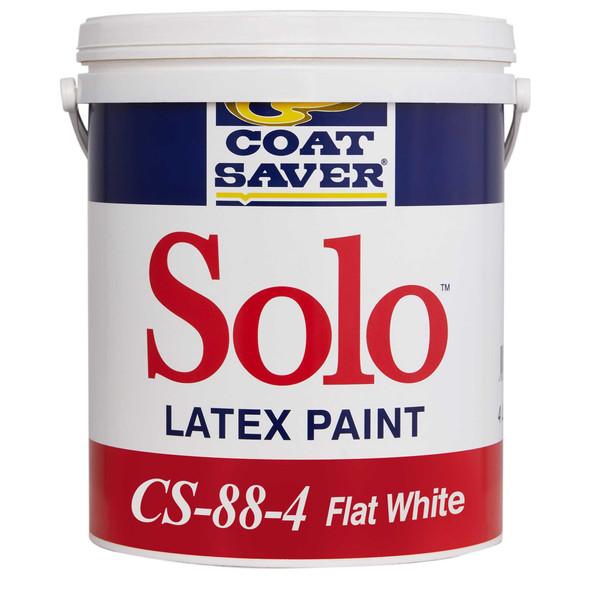 COATSAVER CS-88-4 COAT SAVER SOLO FLAT LATEX WHITE 4L