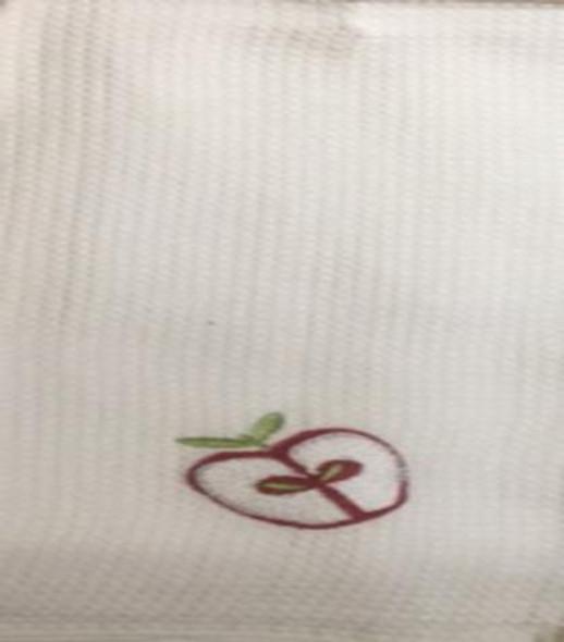 Apple Waffle Design Kitchen Towel Set of 3