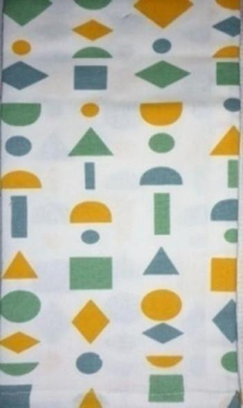Light Green Shapes Kitchen Towel Set of 3