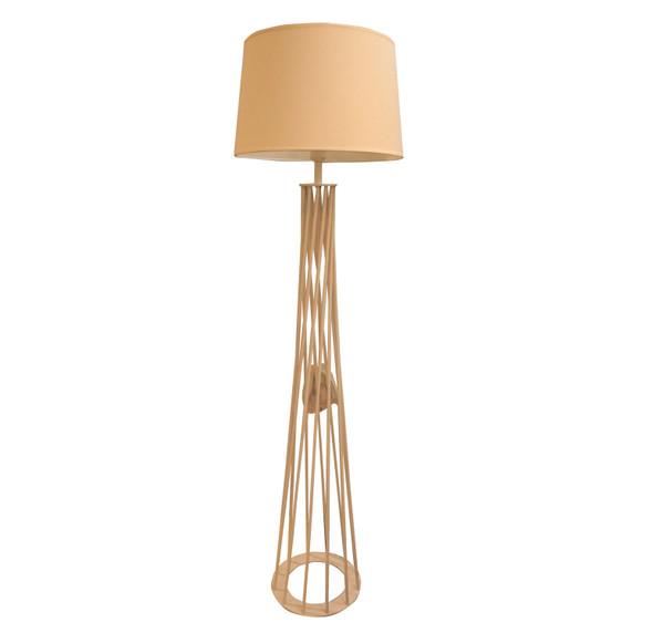 LEUCHTE FLOOR LAMP METAL GRILL WH