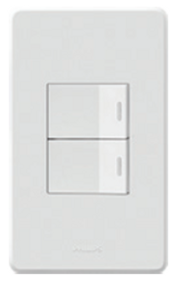 PHILIPS ORIGAMI STYLE 2GANG 2WAY SWITCH 10S
