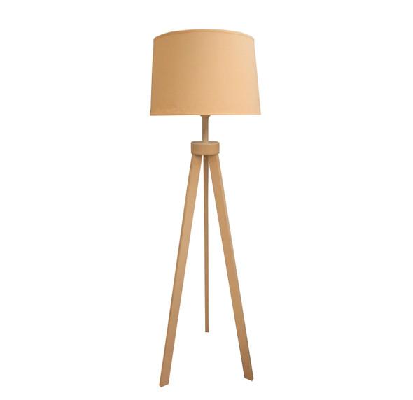 LEUCHTE FLOOR LAMP METAL TRIPOD WH