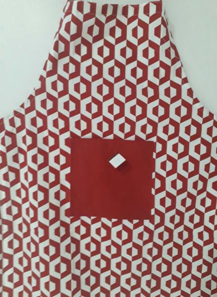 Red Hexa Apron