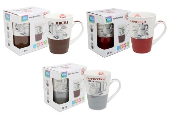 CM18-264 Home Gallery 18oz New bone Mug -Coffee