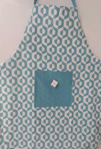 Blue Hexa Apron