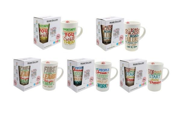 CM16-259 Home Gallery 16oz New bone Mug -Inspirational Quotes